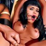 Latina in Celeb Dungeon - Celebrity Bondage Comics Jennifer Lopez